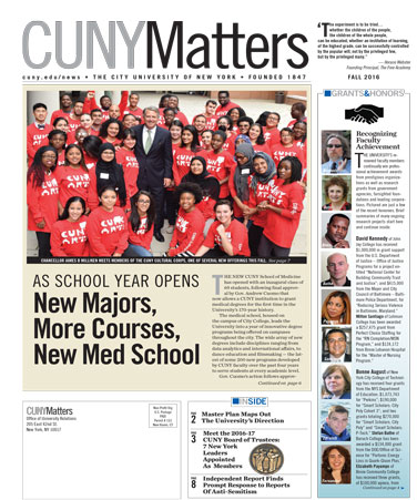 CUNY Matters Fall 2016 cover