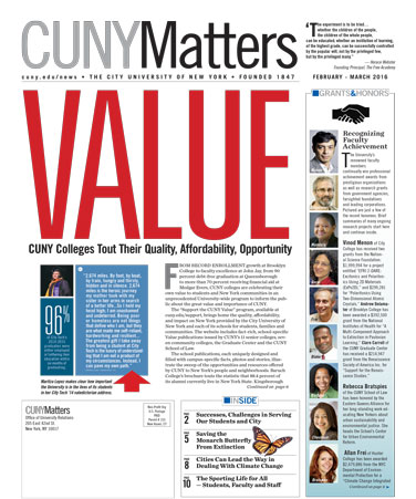CUNY Matters March 2016 cover