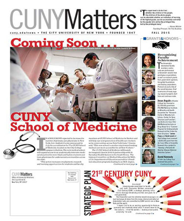 CUNY Matters Fall 2015 cover