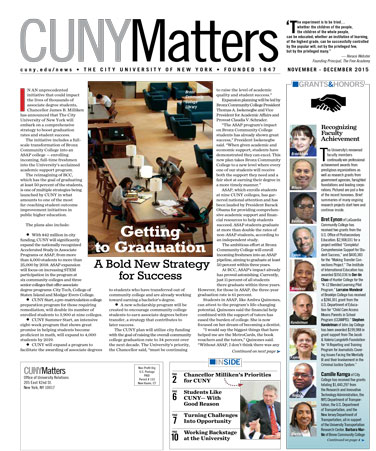 CUNY Matters Nov/Dec 2015 2015 cover