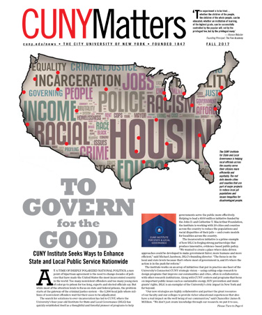 Cover of CUNY Matters Magazine, Fall 2017