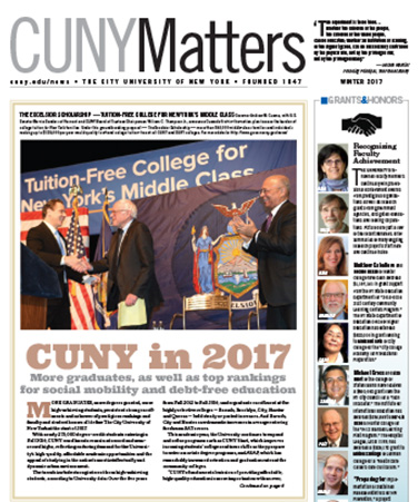 CUNY Matters Winter 2017 cover
