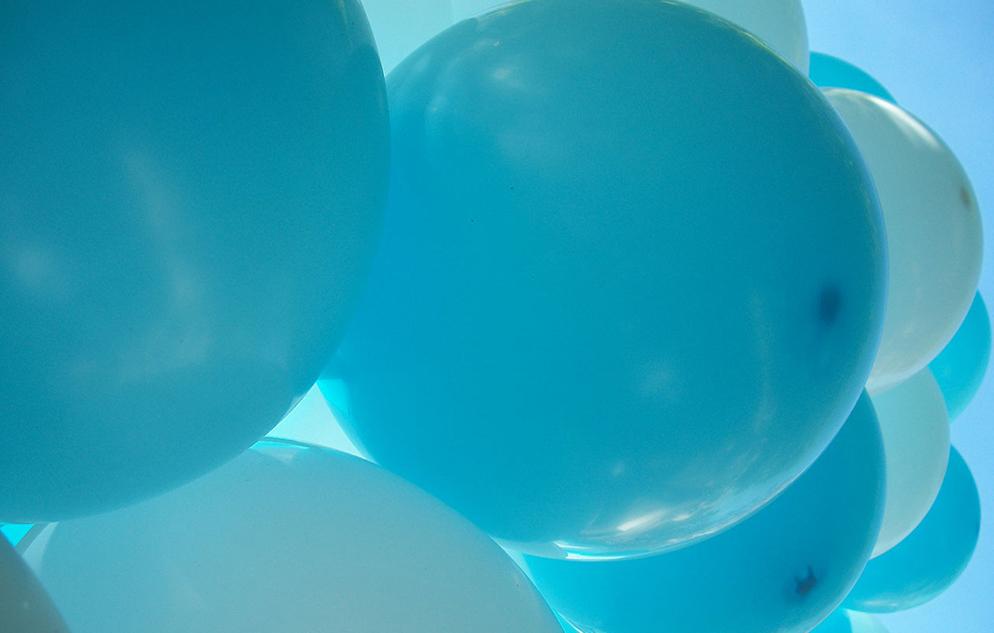 Teal balloons