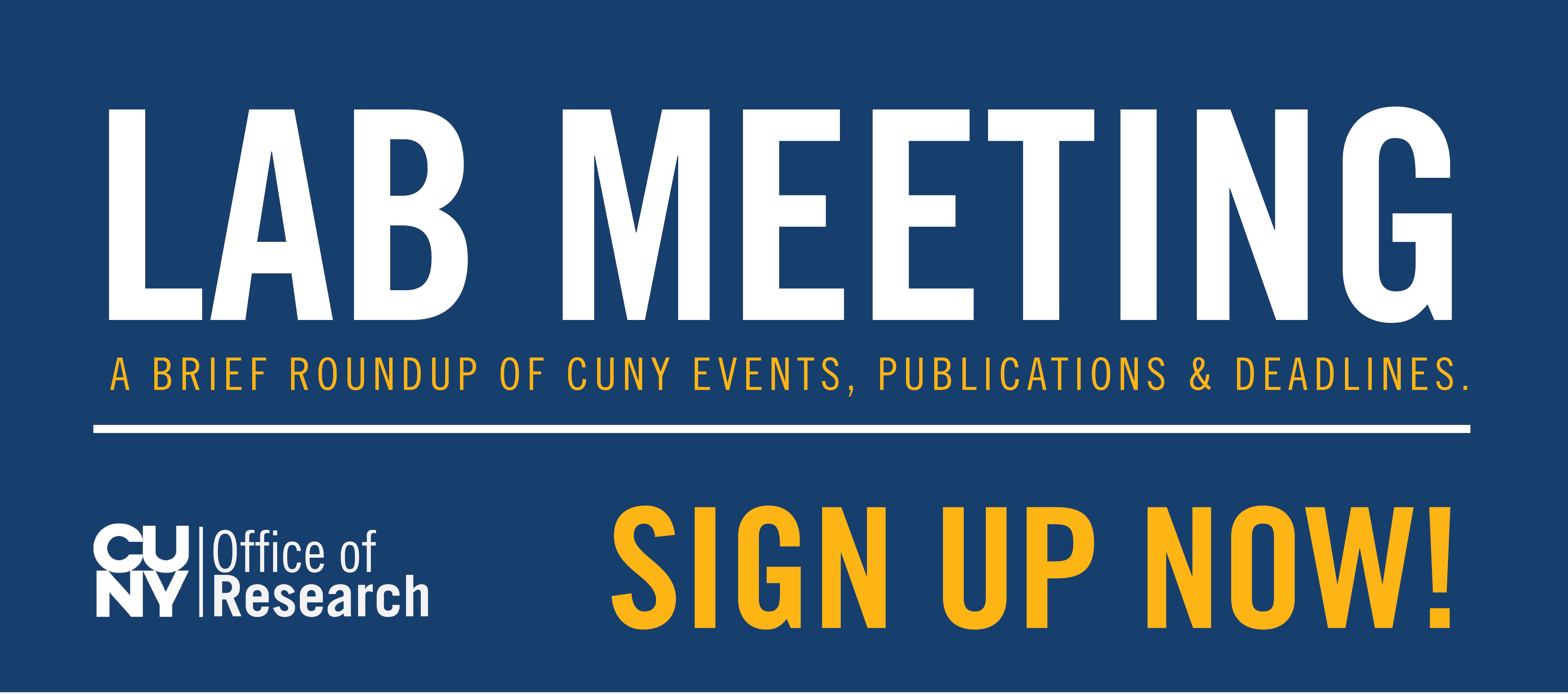 lab meeting sign up banner