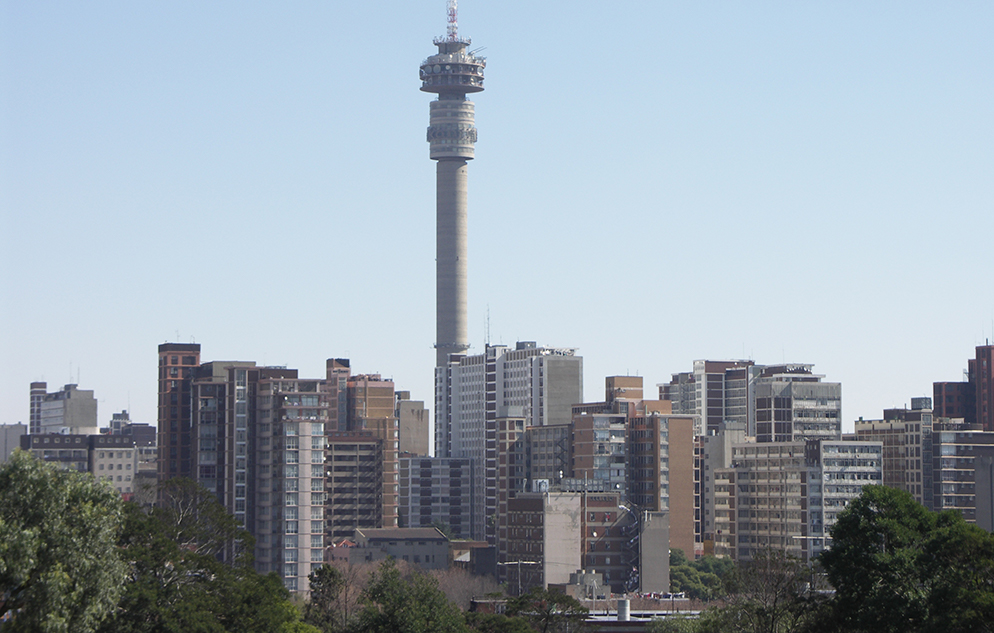 Tower and skyline, Johannesburg, South Africa