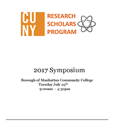 CUNY RESEARCH SCHOLARS PROGRAM 2017 Symposium graphic