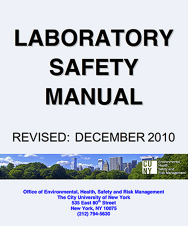 LABORATORY SAFETY MANUAL cover