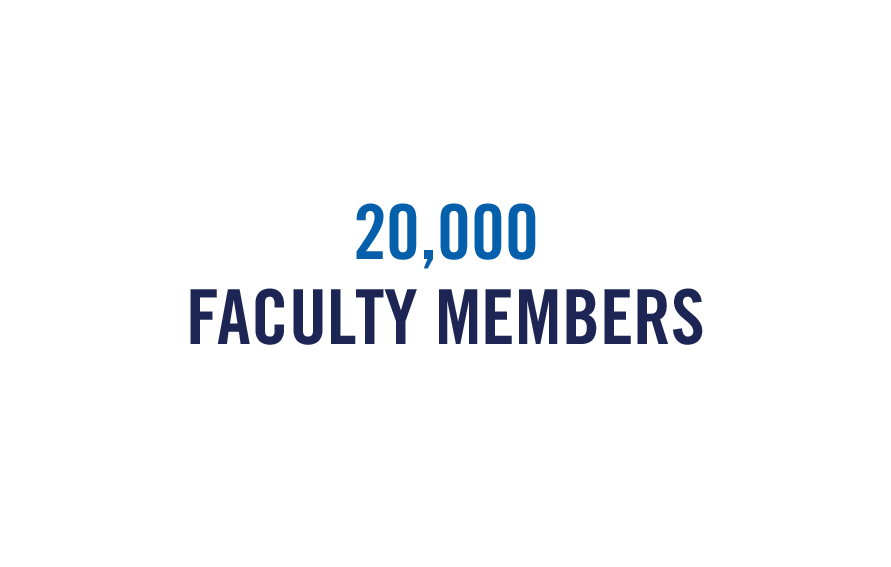 20,000 Faculty Members for Giving Tuesday graphic