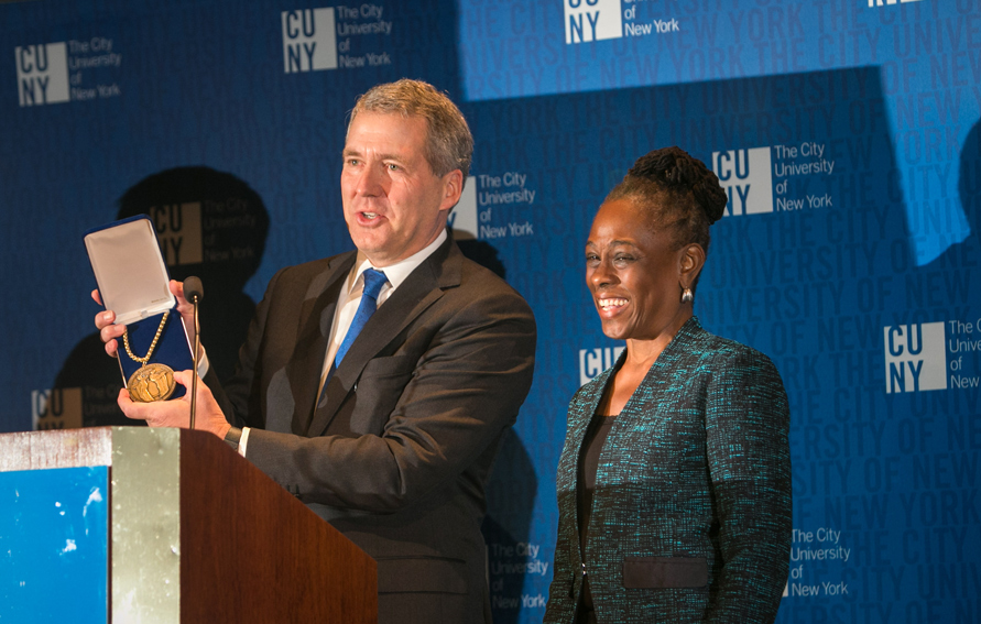 CUNY Chancellor James B. Milliken and New York City First Lady Chirlane McCray