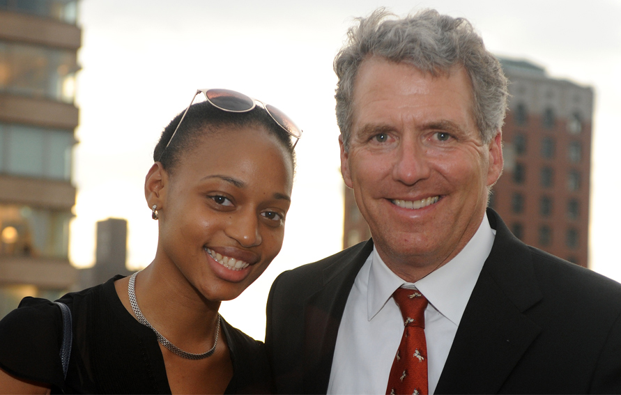 Johanna Veture with CUNY Chancellor James B. Milliken (r)
